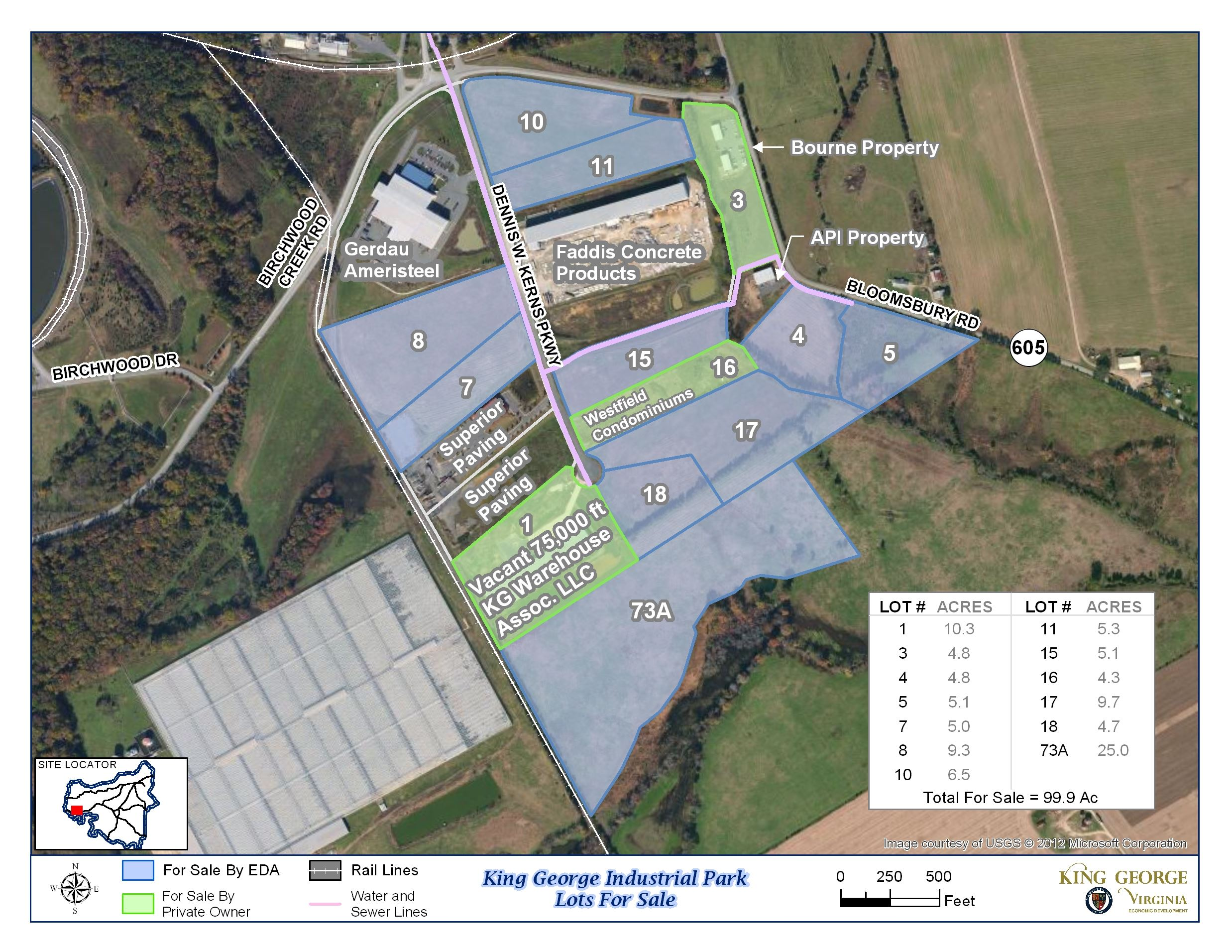 Industrial Park Lots For Sale Map