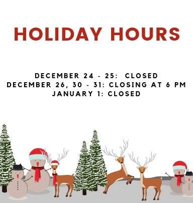 Holiday Hours Slider