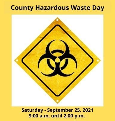 Household Hazardous Waste Day - Fall 21